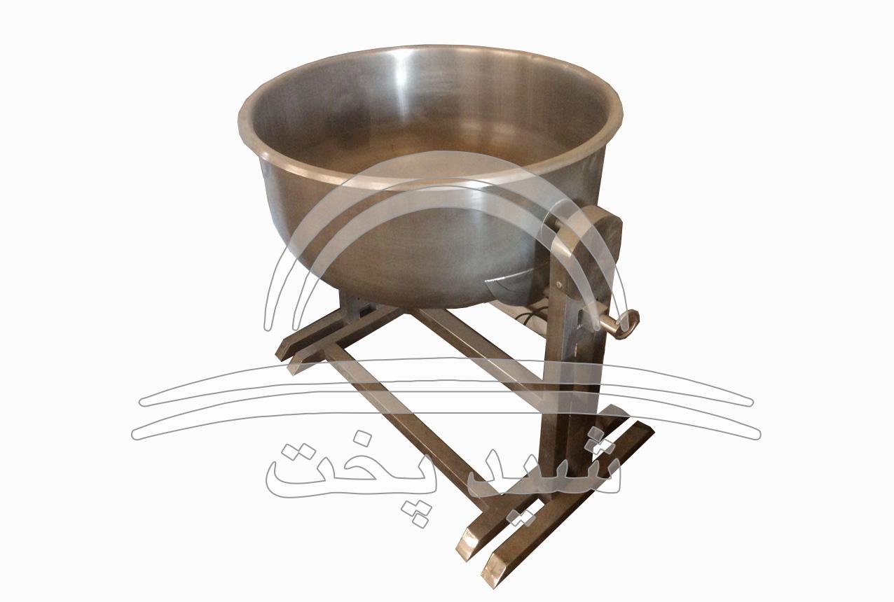 پاتیل استیل برنج پایه دار قطر 70 - 35 کیلویی