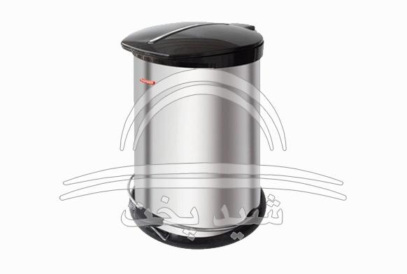سطل زباله استیل 20 لیتری پدالی