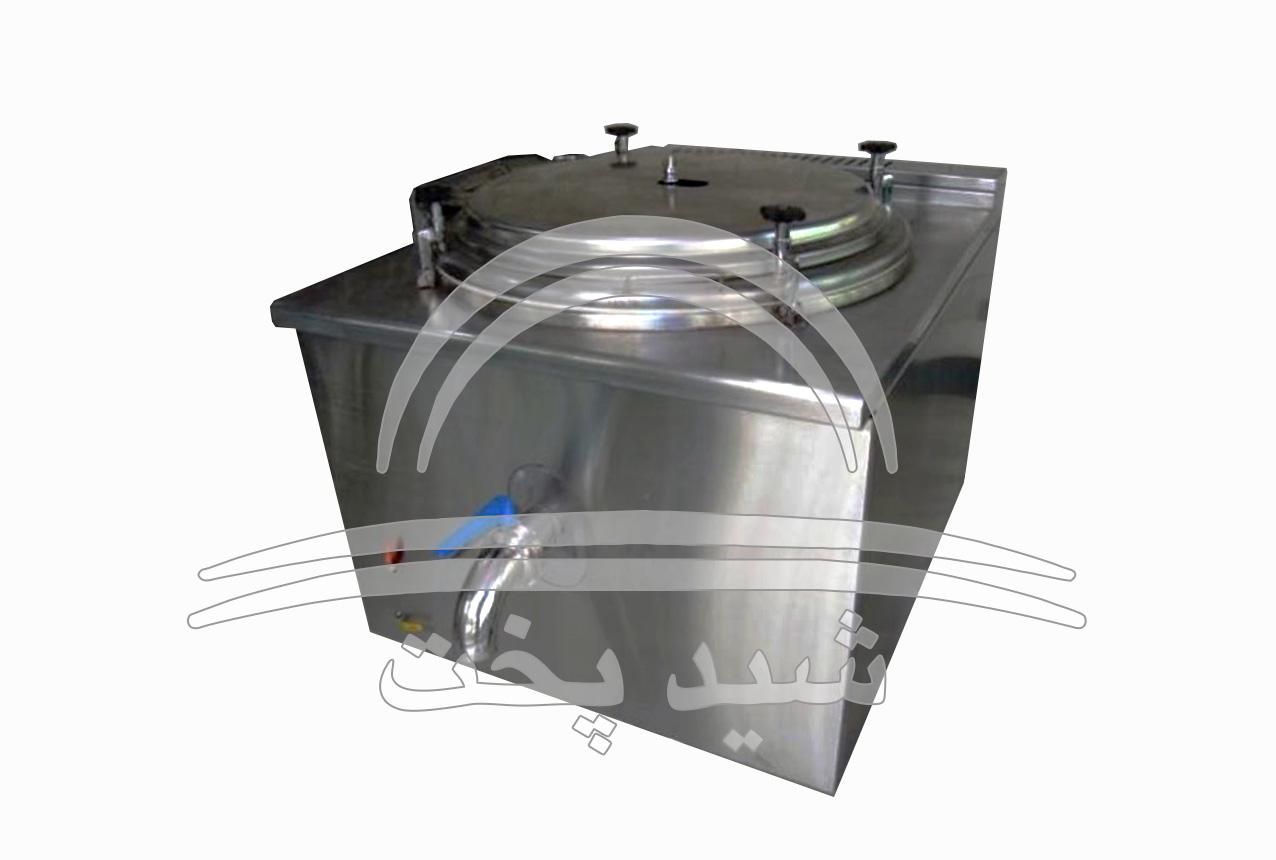 دیگ خورشت پز صنعتی مکعب 250 لیتری - 750 پرس