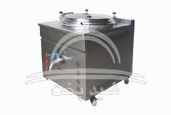 دیگ چلوپز صنعتی مکعبی 220 پرس 300 لیتری