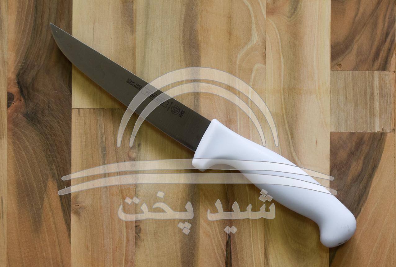 چاقو اشپزخانه بی خسی pedriano (sf ) دسته فایبرگلاس سفید لبه گرد