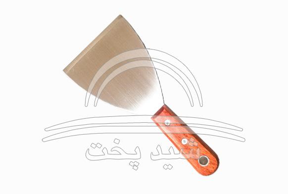 کاردک استیل دسته چوبی بزرگ